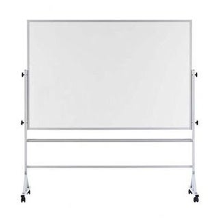 """Offex 48""""x72"""" White Porcelain Markerboard with Both Sides Reversible, Aluminum Trim"""