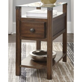 Diamenton Contemporary Chair Side End Table Brown