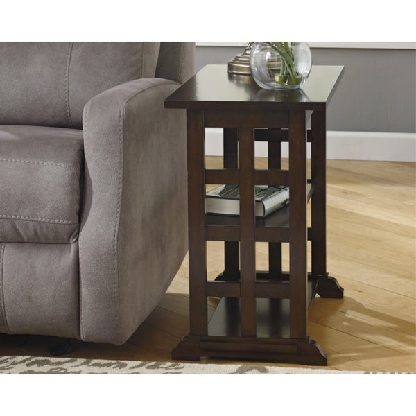 Braunsen Contemporary Chair Side End Table Brown