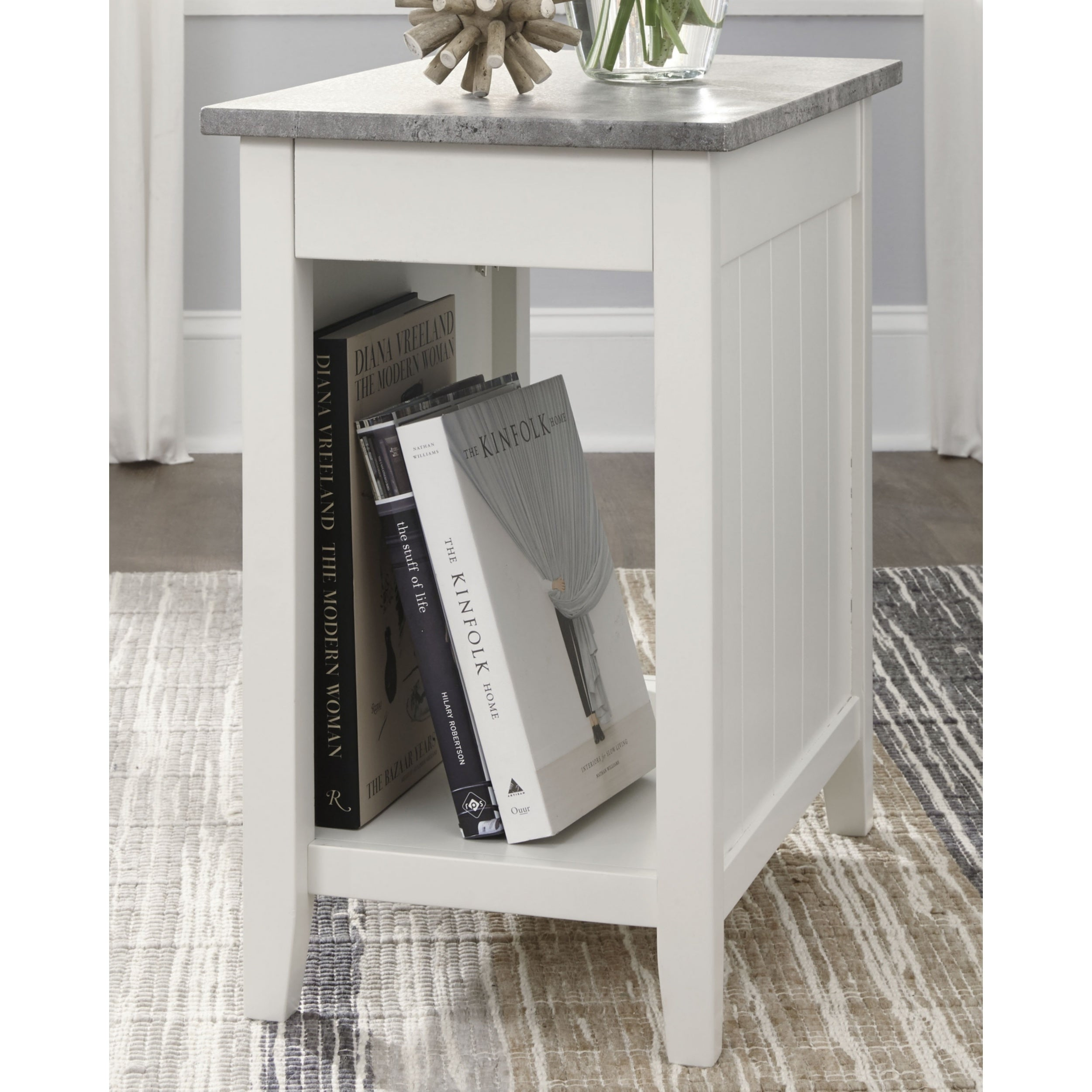 Shop Diamenton White Chairside End Table On Sale Overstock