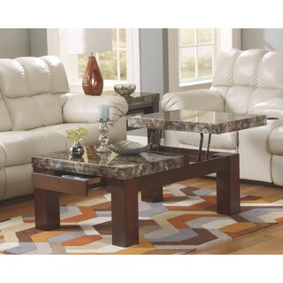 Signature Design by Ashley Kraleene Dark Brown Coffee Table with Lift Top and Drawers