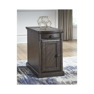 Copper Grove Morvan Warm Brown Chairside End Table
