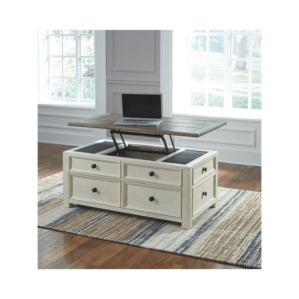 Shop Signature Design By Ashley Bolanburg Two Tone Wood Lift Top