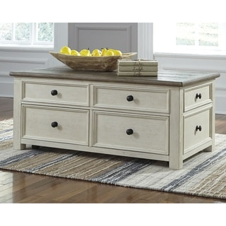 Bolanburg Two-Tone Coffee Table with Lift Top