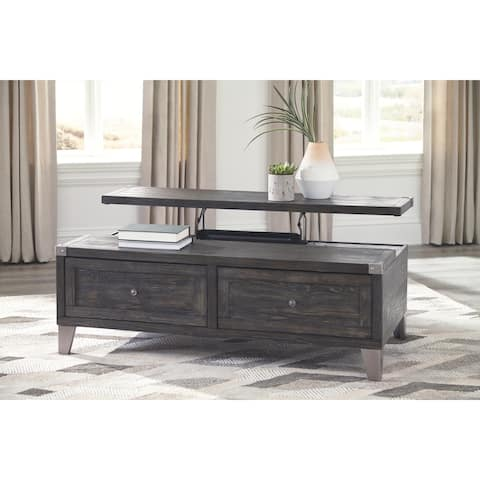 Signature Design by Ashley Todoe Dark Grey Wood Lift Top Coffee Table