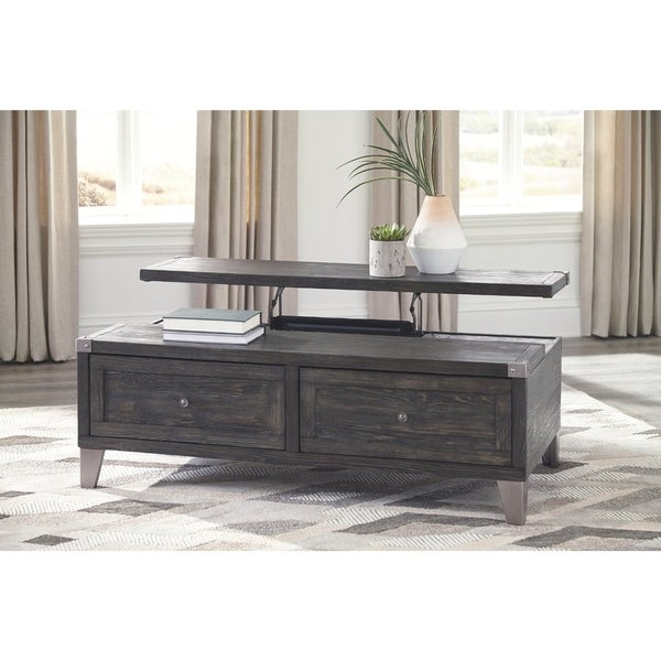 Shop Signature Design By Ashley Todoe Dark Grey Wood Lift Top Coffee