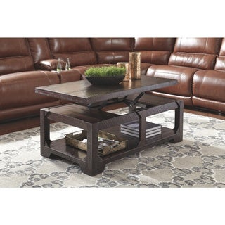 Rogness Casual Lift Top Cocktail Table Rustic Brown