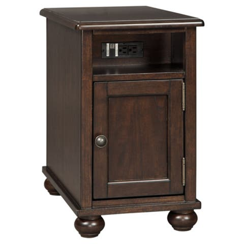Barilanni Casual Chair Side End Table Dark Brown