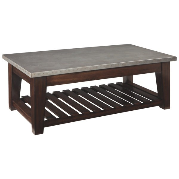 Shop Byndeman Brown And Silver Finish Coffee Table With Lift Top