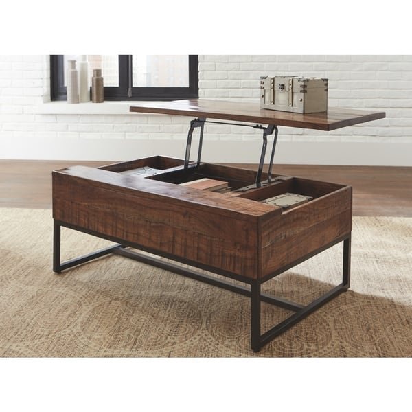 Hirvanton Contemporary Lift Top Tail Table Warm