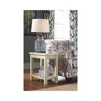 Signature Design by Ashley Veldar Whitewash Chairside End Table