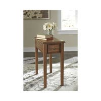 Signature Design by Ashley Solid Wood Warm Brown Chairside End Table