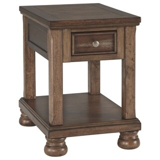 Signature Design by Ashley Flynnter Medium Brown Chairside End Table