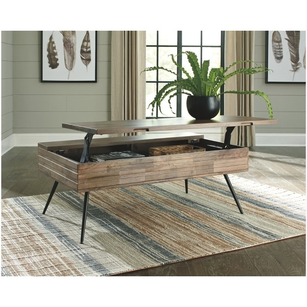 Shop Signature Design By Ashley Brown Coffee Table With Lift Top