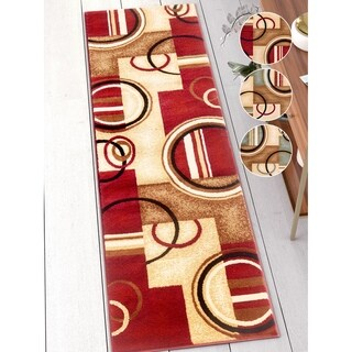 """Well Woven Traditional Trellis Red Runner Rug - 2'7"""" x 9'10"""""""