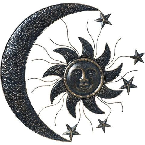 Metal Sun Moon Wall Decor