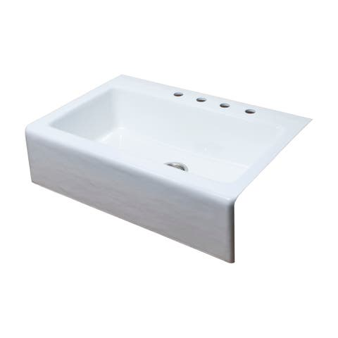 Farmhouse Cast-Iron 33 in. Single Bowl Kitchen Sink