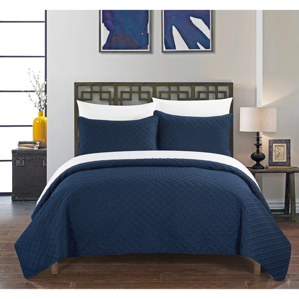 Natural Comfort Matelass/é Blanket Coverlet King Victorian//Water Blue