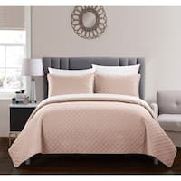 Chic Home Mather 3 Piece Quilt Cover Set Rose Star Geometric