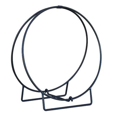 Black 48in Diameter Log Hoop