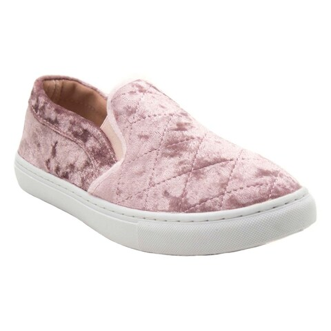 Blue Womens GABY-VEL-2 Fashion Slip On Sneakers