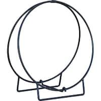 24in Black Log Hoop - 1/2in Solid Stock