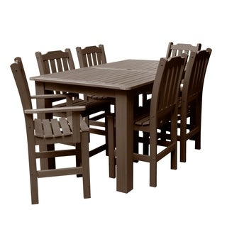 "Lehigh 7pc Rectangular Outdoor Counter Height Dining Set 72"" x 42"""