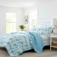 Laura Ashley Seaweed Fish Quilt Set