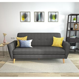 Gretchen Mid Century Fabric Sofa Couch by Christopher Knight Home