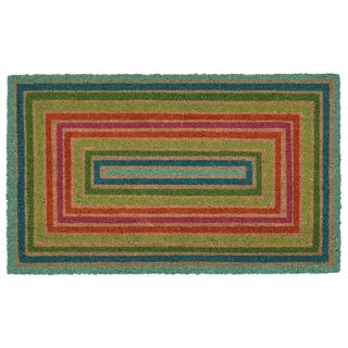 "Liora Manne Multi Border Coir Welcome Door Mat (1'6"" x 2'6"")"