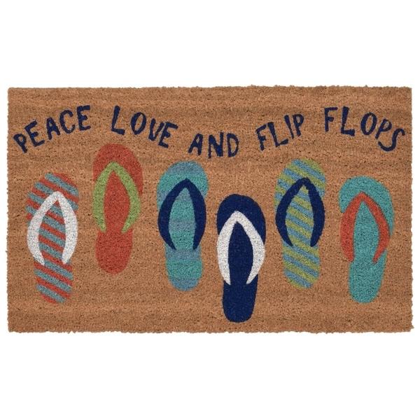 "Liora Manne Beach Sandals Rug (1'6"" x 2'6""). Opens flyout."