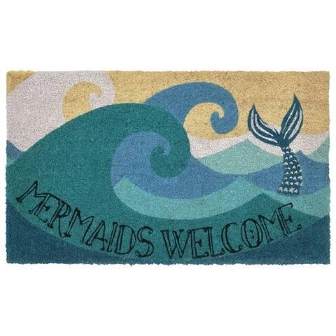 """Liora Manne Ocean Queen Coir Welcome Door Mat (1'6"""" x 2'6"""")"""