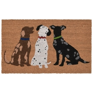 "Liora Manne Three's A Pack Coir Welcome Door Mat (1'6"" x 2'6"")"