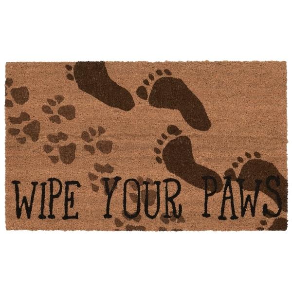 """Liora Manne Clean Your Feet Coir Welcome Door Mat (1'6"""" x 2'6"""")"""