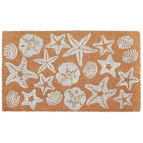 """Liora Manne Sea Jewels Coir Welcome Door Mat (1'6"""" x 2'6"""")"""