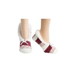 Seashell Chunky Knit Faux Fur Slipper Socks