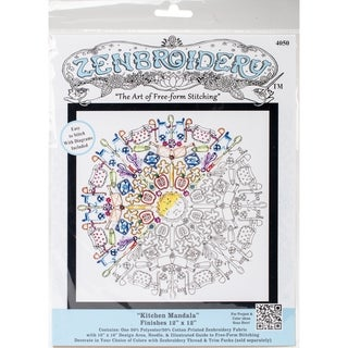 """Design Works/Zenbroidery Stamped Embroidery 12""""X12"""""""