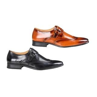 UV Signature Men's Monk Strap Brogue Dress Shoes