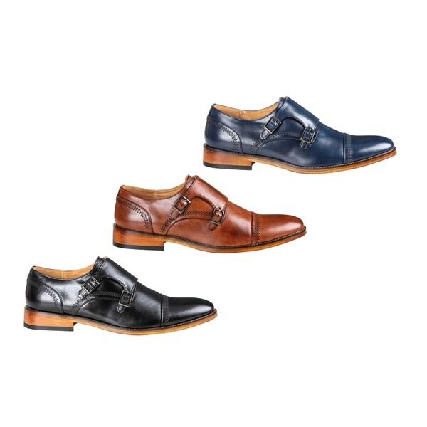 20eeee67211 Shop UV Signature Men's Double Monk Strap Cap Toe Dress Shoes - On ...