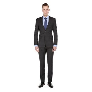 Gino Vitale Men's Slim Fit Check 2 Piece Suits