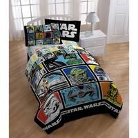 Star Wars Classic Grid Reversible Oversized Twin Comforter