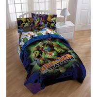 Nickelodeon Teenage Mutant Ninja Turtles Stars Reversible Twin Comforter Sham Set
