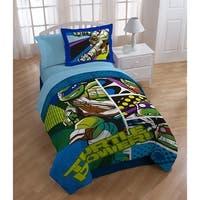 Nickelodeon Teenage Mutant Ninja Turtles Turtle Power 2 Piece Reversible Oversized Twin Comforter Sham Set