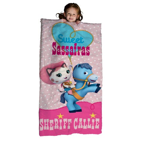 Disney Junior Sheriff Callie Slumber Bag, Bonus Backpack with Straps