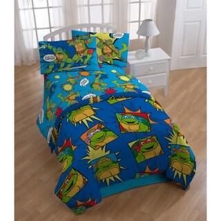Nickelodeon Teenage Mutant Ninja Turtles Team Turtles Reversible Twin Comforter