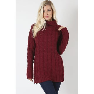 JED Women's Chunky Cable Knit Turtleneck Sweater (4 options available)