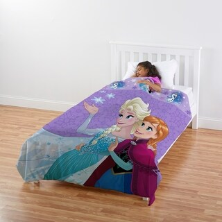 Disney Frozen Magical Snow All-In-One Blanket & Sheet Reversible Comfy Cover