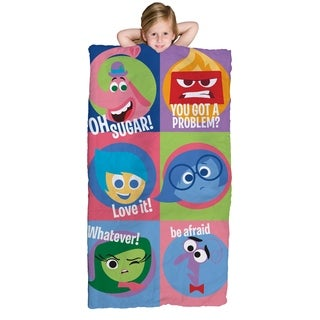 Disney/Pixar Inside Out Slumber Bag, Bonus Backpack with Straps, Multi Color