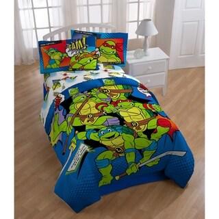 Nickelodeon Teenage Mutant Ninja Turtles Retro Bam/Kapow Reversible Oversized Twin Comforter