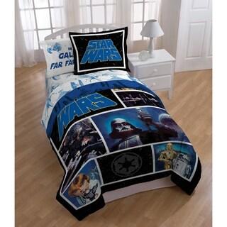 Star Wars Classic Logo Reversible Oversized Twin Comforter Sham Set